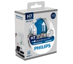 Headlamp bulb set -  Philips H7 55W White Vision 3700K (+60%), 12V ― AUTOERA.CO.UK