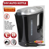 ALL RIDE 24V KETTLE 1LITRE 300W BLACK/SILVER