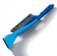 Plastic brush with scrapper, 30cm