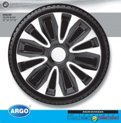 "Wheel cover set - AVALON SILVER & BLACK, 16""  ― AUTOERA.CO.UK"