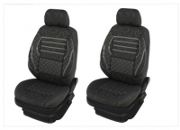 2x Front textile seat covers, universal fit