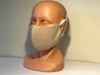 Washable face mask, textile, beige