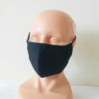 Washable face mask, textile, black