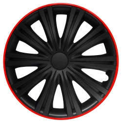 "Wheel cover set - GIGA BLACK RED, 16"" ― AUTOERA.CO.UK"