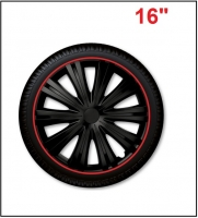 Wheel cover set - GIGA BLACK RED, 16""