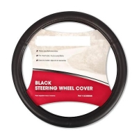 Leather wheel cover, black 37-39cm