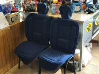 2x Front Car seat Cushions, blue