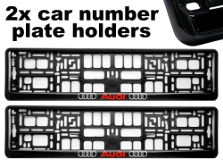 2PCS x  Number Plate Surround Holder - AUDI ― AUTOERA.CO.UK