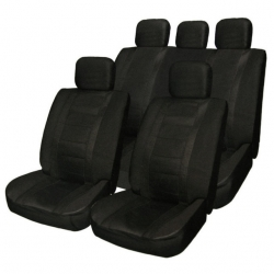 Seat covers set for RECARO (Maxi), textile  black color ― AUTOERA.CO.UK