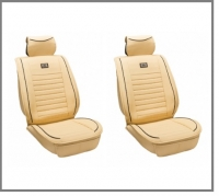 2x Leather imitation front seat covers, beige