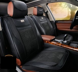 Leather imitation car seat cover set with zippers ― AUTOERA.CO.UK