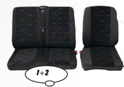 Universal seat covers BUS (1+2seats) /good quallity textile ― AUTOERA.CO.UK